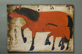 種市村種市孫兵衛が奉納した馬の絵馬
